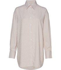 nina striped shirt overhemd met lange mouwen wit filippa k