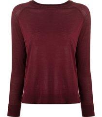 aspesi raglan-sleeved sweater - purple