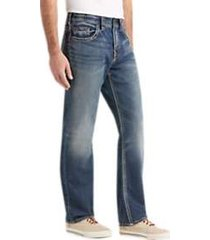 silver jeans grayson medium blue wash relaxed fit jeans