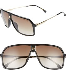 carrera eyewear 64mm navigator sunglasses in black at nordstrom