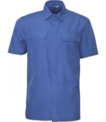 camisa manga corta azul kannú