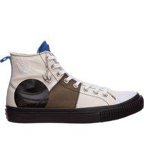 scarpe sneakers alte uomo in pelle swallow capsule