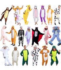 animal cosplay kigurumi pajamas pyjamas costume hoodies adult onesie fancy dress