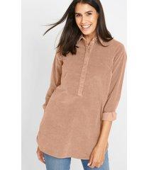 lange corduroy blouse van biologisch katoen