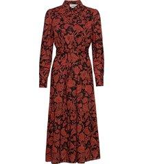 robe cerise maxi dress galajurk rood ba&sh