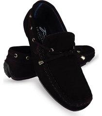 mocasín cuero negro fasucol elegant tc019