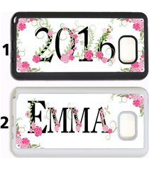 personalized name girly floral monogram phone case for samsung galaxy s8 s7 note