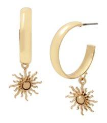 jessica simpson women's celestial charm hoop earrings
