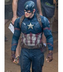 captain america civil war costume jacket, pure leather jacket for men, nomad
