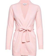 classic long cardigan gebreide trui cardigan roze davida cashmere