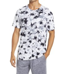 zella tie dye men's seamless t-shirt, size small in black at nordstrom