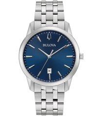 bulova men's sutton stainless steel bracelet watch 40mm