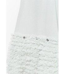 chloé ruffled shorts - grey