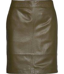 chargz mini skirt kort kjol grön gestuz