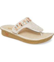 women's alegria 'vanessa' thong sandal, size 10.5us - white
