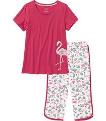 pigiama con pinocchietto (rosso) - bpc bonprix collection