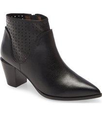 women's linea paolo winnie leather bootie, size 7.5 m - black