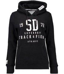 hoodie track & fieldhood zwart