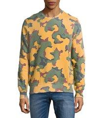 eleven paris men's camouflage cotton sweatshirt - big camo - size s