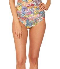 bleu by rod beattie sarong bikini bottoms, size 6 in multi at nordstrom