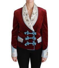 baroque crystal blazer jacket