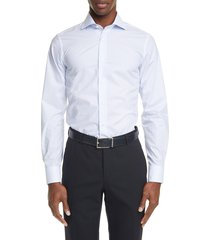 men's canali regular fit dress shirt, size 15.5 - blue