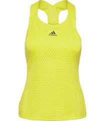 heat.rdy primeblue tennis y-tank top t-shirts & tops sleeveless geel adidas performance