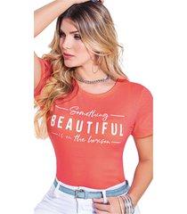 camiseta adulto femenino mandarina marketing  personal