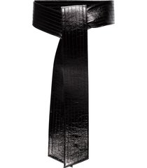givenchy black bow patent leather belt