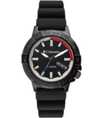 columbia men's peak patrol black silicone strap watch 42mm