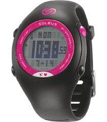 reloj monitor soleus gps mini hrm negro/fucsia
