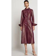 proenza schouler leather shirt dress bordeaux/red 4
