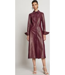 proenza schouler leather shirt dress bordeaux/red 4