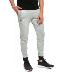 pantalón de buzo under armour unstoppable 2x knit jogger gris - calce regular