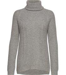 hollie high neck chunky knit turtleneck polotröja grå andiata