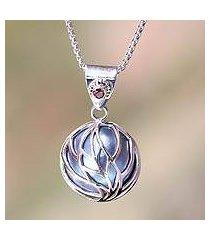 cultured pearl pendant necklace, 'secret world' (indonesia)
