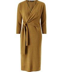 stickad klänning slfnaya 3/4 knit wrap tie dress
