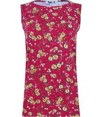 top hombro ancho estampado flores color vino, talla 8