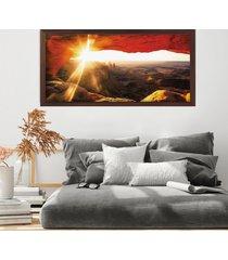 tela com moldura slim mesa arch 60x130cm madeira escura