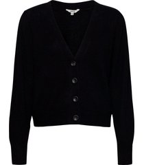 artina stickad tröja cardigan svart mbym