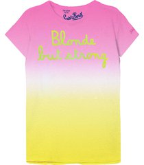 blonde but strong embroidered t-shirt