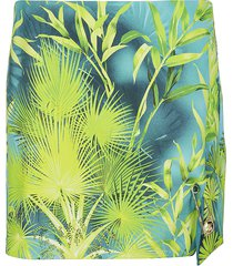 versace green silk skirt