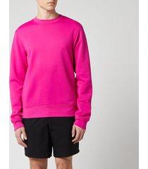 acne studios men's logo zip sweatshirt - magenta pink - s