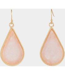tiffany stone teardrop earrings - pale pink