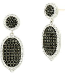 women's freida rothman industrial finish pave drop earrings