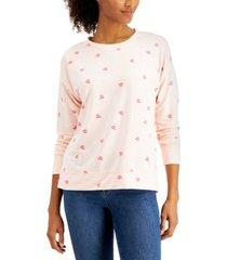 style & co heart kiss sweatshirt, created for macy's