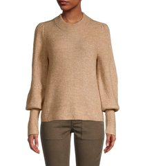 design history women's bishop-sleeve sweater - oatmeal - size s