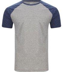 camiseta manga ranglan descanso color gris, talla l