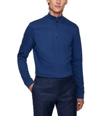 boss men's quarter-zip sweatshirt
