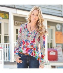 watercolor flora tunic
